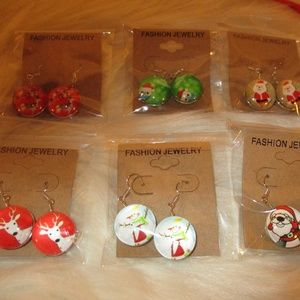 Jewelry - Six pairs of Christmas earrings - all different
